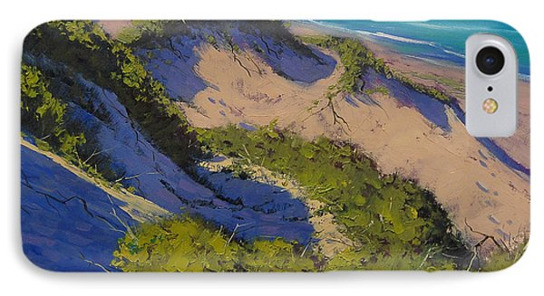 Sand Dunes Oil Painting IPhone Case by Graham Gercken