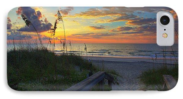 Sand Dunes On The Seashore At Sunrise - Carolina Beach Nc IPhone Case