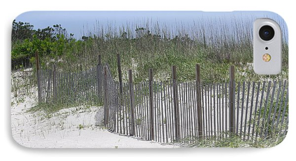 Sand Fence At Cape Lookout Phone Case by Cathy Lindsey