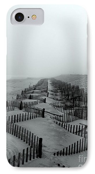 Sand In The Line IPhone Case by Robert Riordan