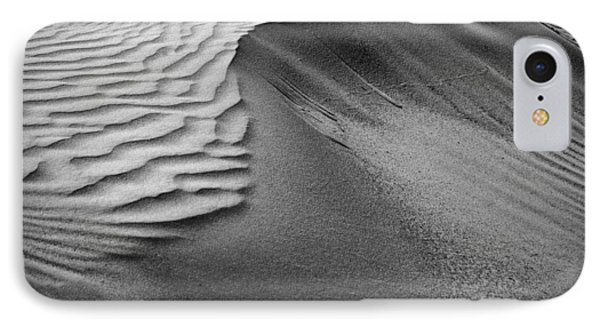 Sand Pattern Abstract - 2 - Black And White IPhone Case by Nikolyn McDonald