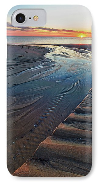 Sand Patterns At Sunset On Bound Brook IPhone Case