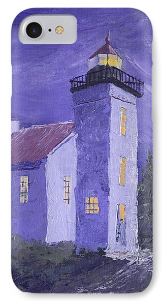 Sand Point Lighthouse IPhone Case by Jerry McElroy
