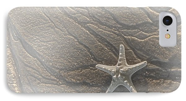 Sand Prints And Starfish II Phone Case by Susan Candelario