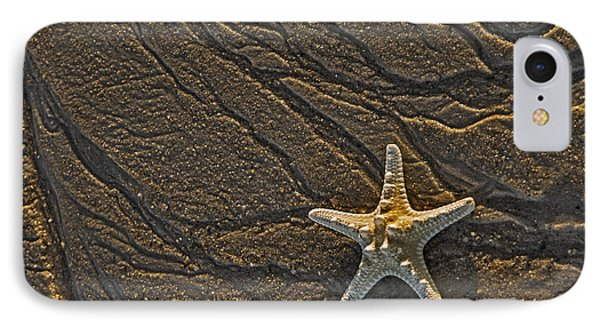 Sand Prints And Starfish  Phone Case by Susan Candelario