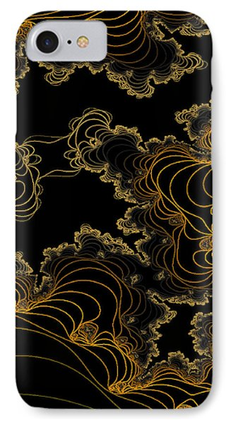 IPhone Case featuring the digital art Sand Seafoam And Sky by Owlspook