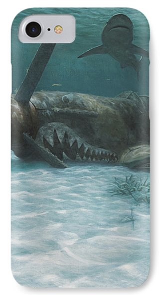 Sand Shark Phone Case by Randall Scott