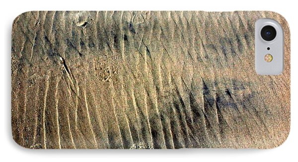 IPhone Case featuring the photograph Sand Tracks by Irma BACKELANT GALLERIES
