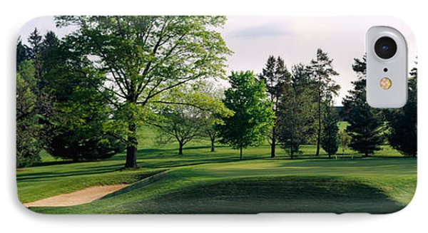 Sand Traps On A Golf Course, Baltimore IPhone Case by Panoramic Images