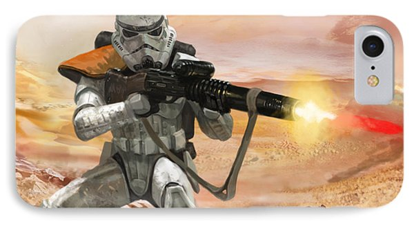 Sand Trooper - Star Wars The Card Game Phone Case by Ryan Barger