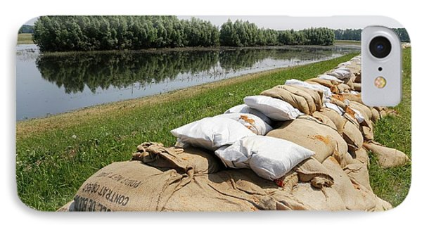 Sandbags On A Dike IPhone Case
