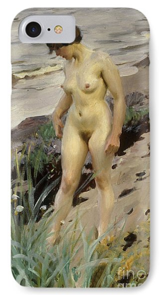 Sandhamn Study IPhone Case by Anders Leonard Zorn