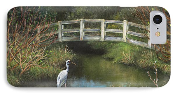 Sandhill Crane At Spring Creek IPhone Case by Jeanette French