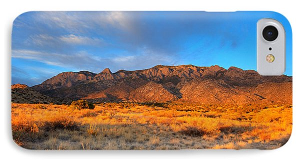 Sandia Crest Sunset IPhone Case by Alan Vance Ley