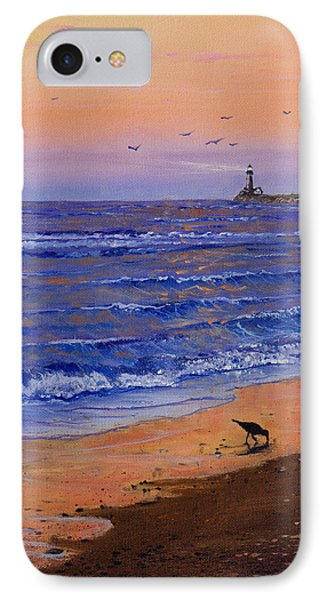Sandpiper At Sunset Phone Case by C Steele