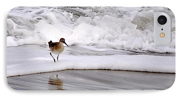 IPhone Case featuring the photograph Sandpiper In The Surf by AJ  Schibig