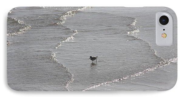 Sandpiper In Water IPhone Case by Jerry Bunger