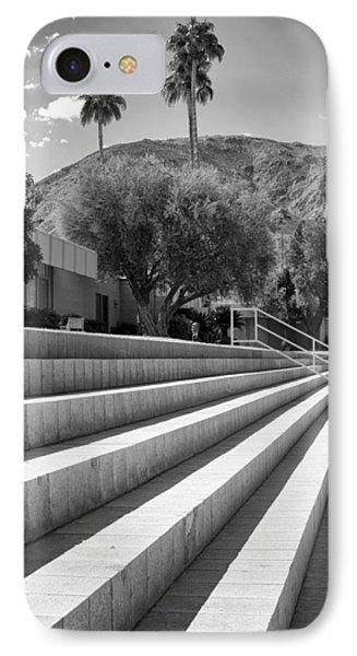 Sandpiper Stairs Bw Palm Desert Phone Case by William Dey