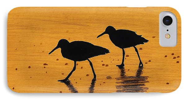 Sandpipers - At - Sunrise IPhone Case by D Hackett