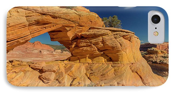 Sandstone Arch In The Vermillion Cliffs IPhone Case by Chuck Haney