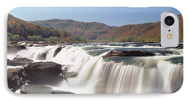 Sandstone Falls New River Gorge Wv Usa IPhone Case by Panoramic Images