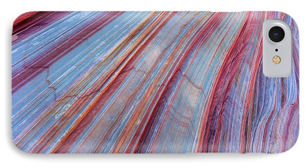 Sandstone Striping In The Vermillion IPhone Case by Chuck Haney