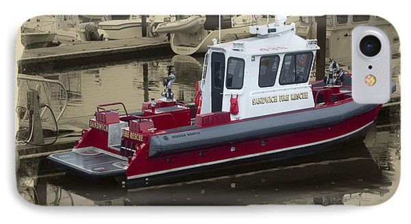 Sandwich Cape Cod Fire Rescue Boat IPhone Case by Constantine Gregory