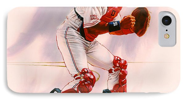 New York Mets iPhone 7 Case - Sandy Alomar by Dick Bobnick