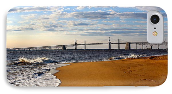 Sandy Bay Bridge IPhone Case by Jennifer Casey