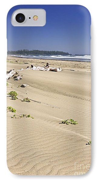 Sandy Beach On Pacific Ocean In Canada Phone Case by Elena Elisseeva