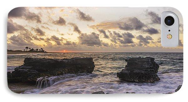 Sandy Beach Sunrise 1 - Oahu Hawaii Phone Case by Brian Harig