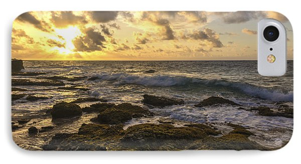 Sandy Beach Sunrise 11 - Oahu Hawaii Phone Case by Brian Harig