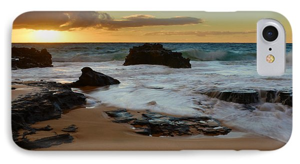Sandy Beach Sunrise 7 - Oahu Hawaii Phone Case by Brian Harig