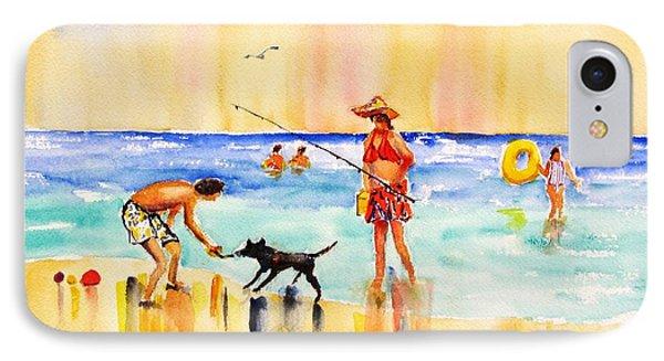 Sandy Dog At The Beach IPhone Case by Carlin Blahnik