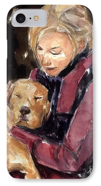 IPhone Case featuring the painting Sandy Grace And Me by Molly Poole
