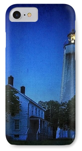 IPhone Case featuring the photograph Sandy Hook Lighthouse At Twilight by Debra Fedchin