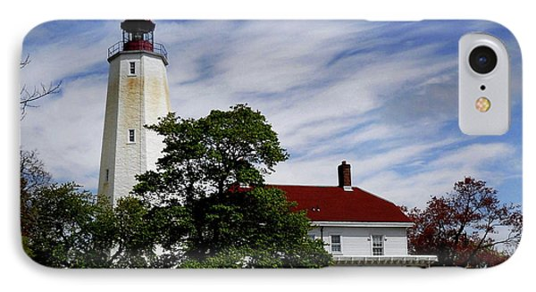 Sandy Hook Lighthouse Nj IPhone Case by Skip Willits