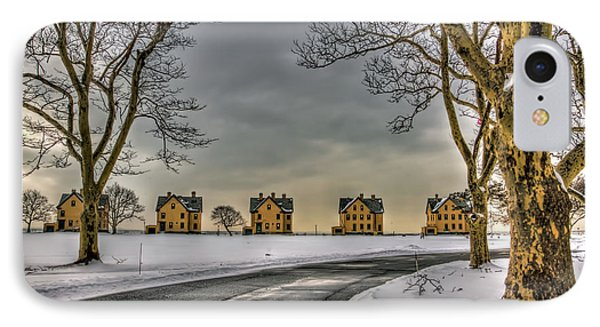 Sandy Hook Officers Row In Snow IPhone Case by Geraldine Scull