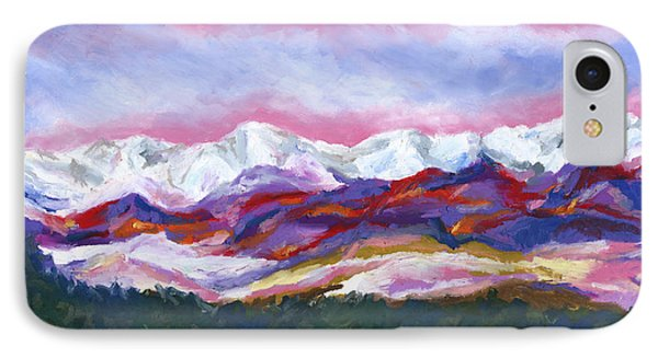 IPhone Case featuring the painting Sangre De Cristo Mountains by Stephen Anderson