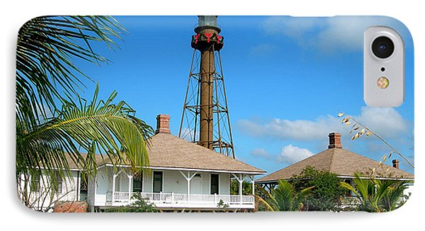 Sanibel Lighthouse At Christmas IPhone Case by Melinda Saminski