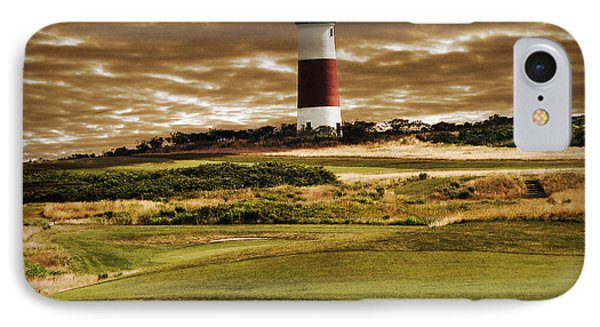 IPhone Case featuring the photograph Sankaty Head Lighthouse In Nantucket by Mitchell R Grosky