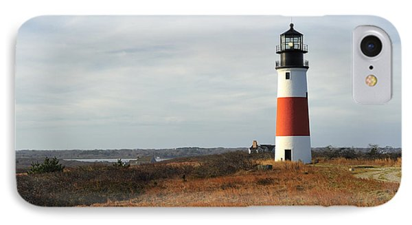 Sankaty Head Lighthouse Nantucket In Autumn Colors IPhone Case by Marianne Campolongo
