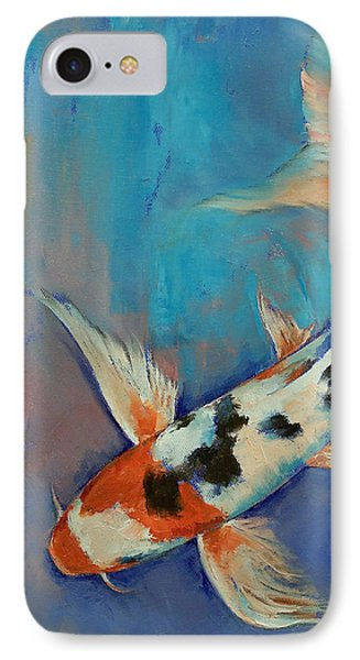 Sanke Butterfly Koi IPhone 7 Case by Michael Creese