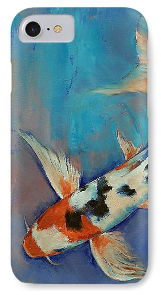 Sanke Butterfly Koi IPhone Case by Michael Creese