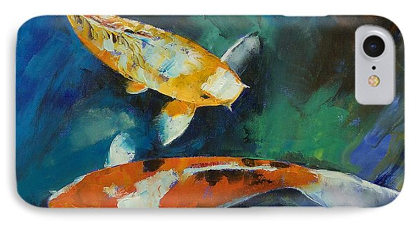 Sanke Koi Painting IPhone Case by Michael Creese