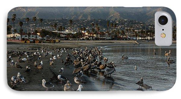 IPhone Case featuring the photograph Santa Barbara Beach Crowd  by Georgia Mizuleva