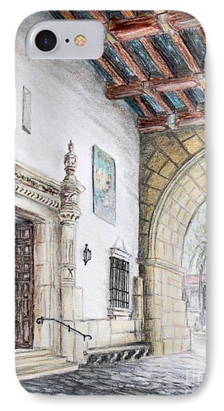 Santa Barbara Courthouse Arch IPhone Case by Danuta Bennett