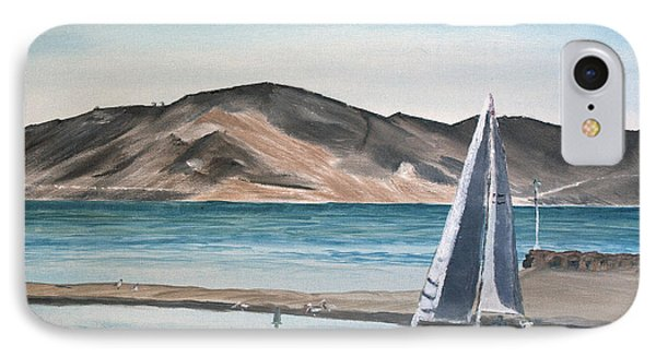 IPhone Case featuring the painting Santa Barbara Sailing by Ian Donley