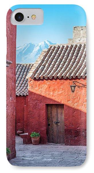 Santa Catalina Monastery And Volcano IPhone Case by Jess Kraft