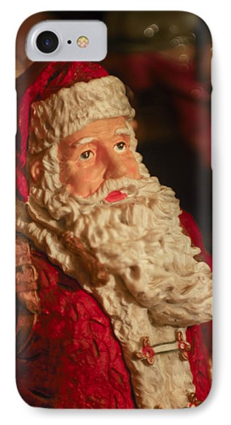 Santa Claus - Antique Ornament - 01 IPhone Case by Jill Reger